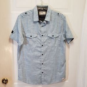Men's Free Planet Short Sleeve Button down